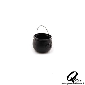 Mini balde Caldeirão de Bruxa - Preto