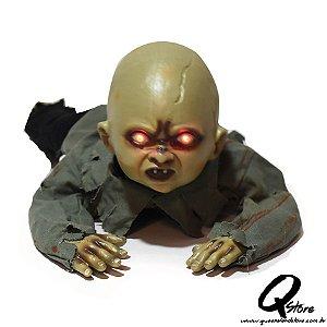 Boneco Bebê Zumbi c/ Som e Movimento  80 x 35 cm - 1 Unidade