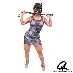 Fantasia Vestido Mulher Gato