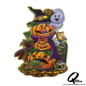 Placa Halloween - Abóbora