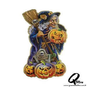 Placa Halloween - Bruxa