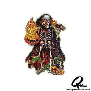 Placa Halloween - Caveira