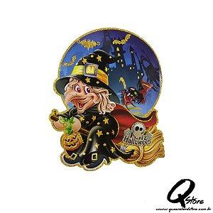 Placa Halloween - Mini Bruxinha