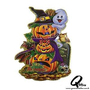 Placa Halloween - Mini Abóbora