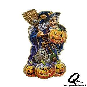 Placa Halloween - Mini Bruxa