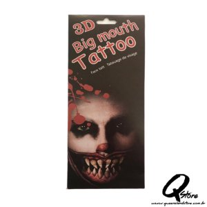 3D Big Mouth - Tatuagem Mod 2