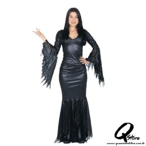 Fantasia Morticia Luxo Adulto