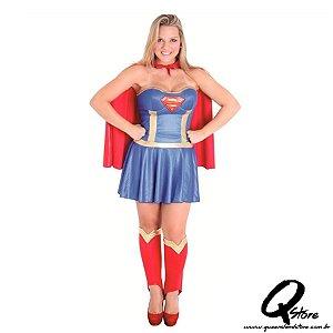 Fantasia Super Mulher Adulto - Heat Girls