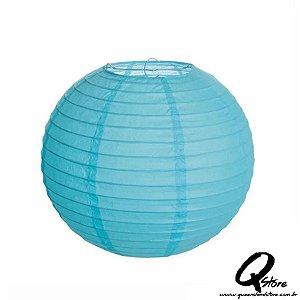 Lanterna de Papel Japonês s/ luz 30 cm - Azul