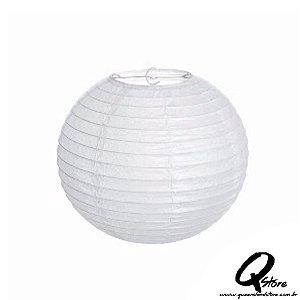 Lanterna de Papel Japonês s/ luz 30 cm - Branca