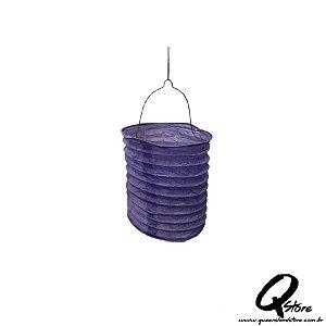 Lanterna de Papel  c/ suporte de Vela de Led  - Roxo