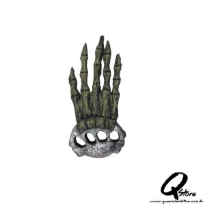 Mão Caveira Decoração Luxo Borracha  - Unidade