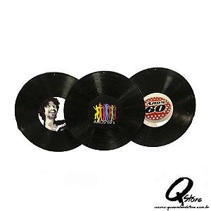 Kit 3 Disco de Vinil Sortidos- Decoração