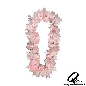Colar Havaiano Luxo Rosa - Unidade