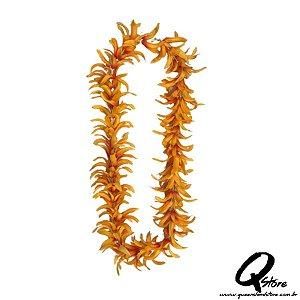 Colar Havaiano Luxo Flores Laranja - Unidade