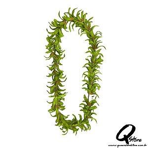 Colar Havaiano Luxo Flores Verde - Unidade
