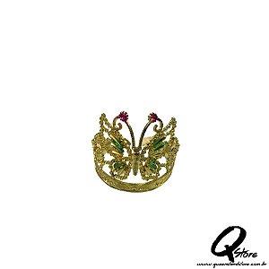 Tiara Princesa Dourada Simples - Coroa