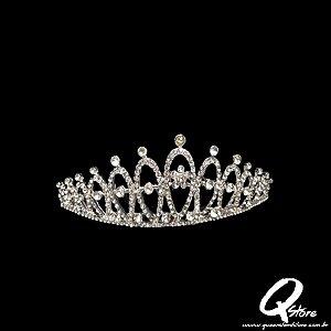 Tiara Coroa Strass Luxo