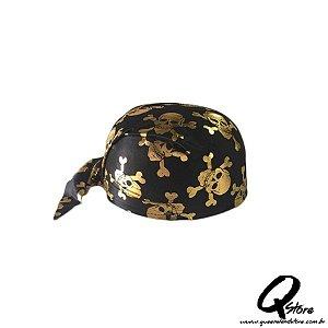 Chapéu Bandana Pirata -Dourado