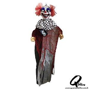 Boneco Halloween Palhaço Led   90CM X 22CM - 1 Unidade