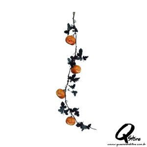 Guirlanda Abóbora Pisca Halloween Isopor