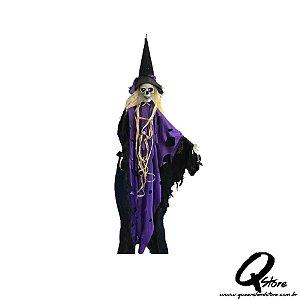 Boneco Halloween Caveira Bruxa  - 1 Unidade
