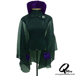 Capa de Vampira c/ Bracelete - Roxo c/ Renda