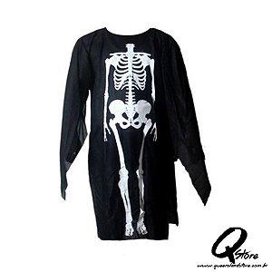 Túnica Esqueleto  Simples - Adulto