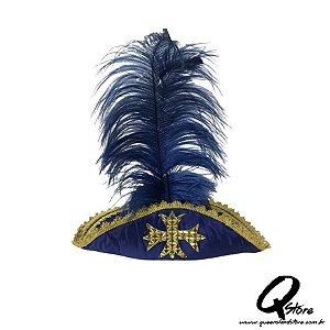 Chapéu Mosqueteiro Azul  - Adulto