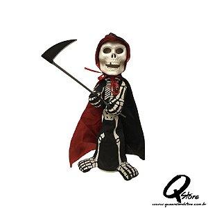 Boneco Halloween Caveira Morte c/ movimento  - 1 Unidade