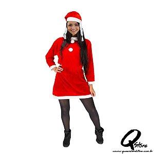 Fantasia Mamãe Noel - Tamanho Único