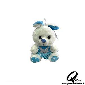 Coelho Azul Pelúcia - 22 cm