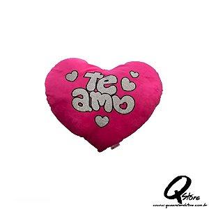 Coração Rosa Pelúcia - 30 cm