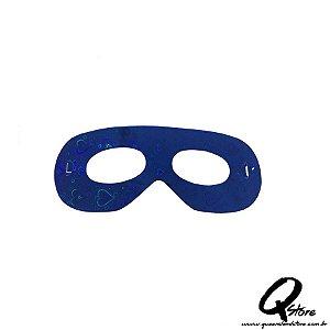 Máscara Holográfica Papel c/ 12 unid - Azul