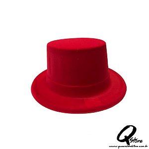 Cartola Plástica c/ Camurça Vermelha