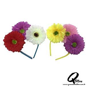 Tiara Flores - Cores Diversas Unidade