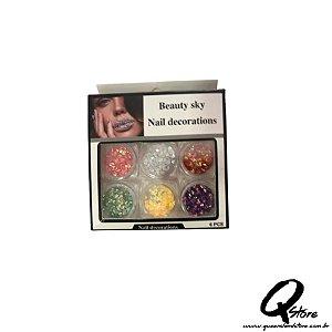 Kit Beauty Sky - Unha 6 Potinhos -Mod 6