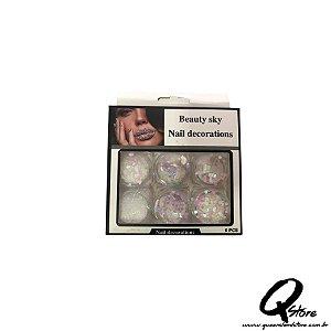 Kit Beauty Sky - Unha 6 Potinhos -Mod 8