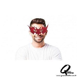 Máscara Veludo Simples - Vermelha