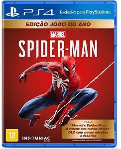 Marvel Spider-man - Edição Jogo Do Ano - Ps4 - LACRADO