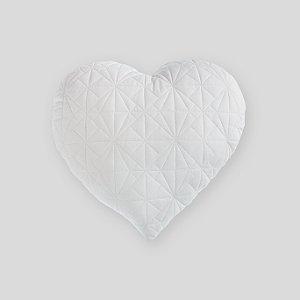 Almofada Coração matelassê branca