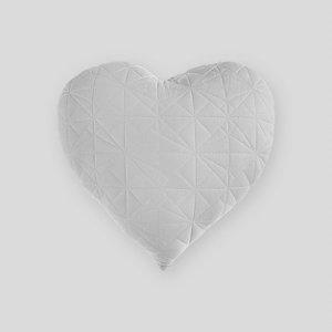 Almofada Coração matelassê cinza