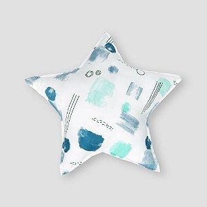 Almofada Estrela aquarela azul