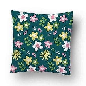 Almofada Flores Verde