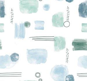Papel de parede Aquarela Azul