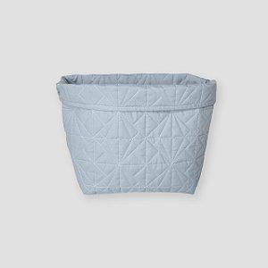 Cesto tecido matelassado Azul
