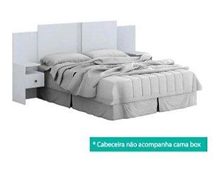 CABECEIRA CASAL COM 2 GAVETAS CARLA BRANCA - ACP
