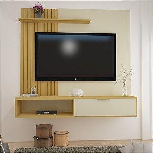 """PAINEL ROMA 100% MDF - Suporta tv's de até 60"""" (1,30M) S/ESP. C/SUP ./NOCE/OFF WHIte"""