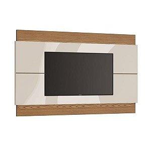 """PAINEL PARA TV'S ATÉ 60"""" - CLASSIC (2,20M) COM LED (73775) ./OFF WHITE/FREIJO"""