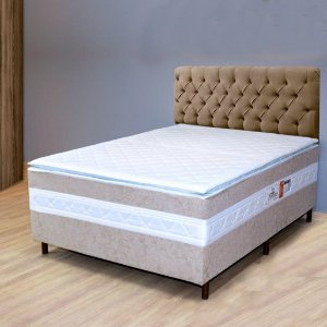 UNIBOX BREARE LUXO 138X188X70 C/PILLOW ./BRANCO / BEGE
